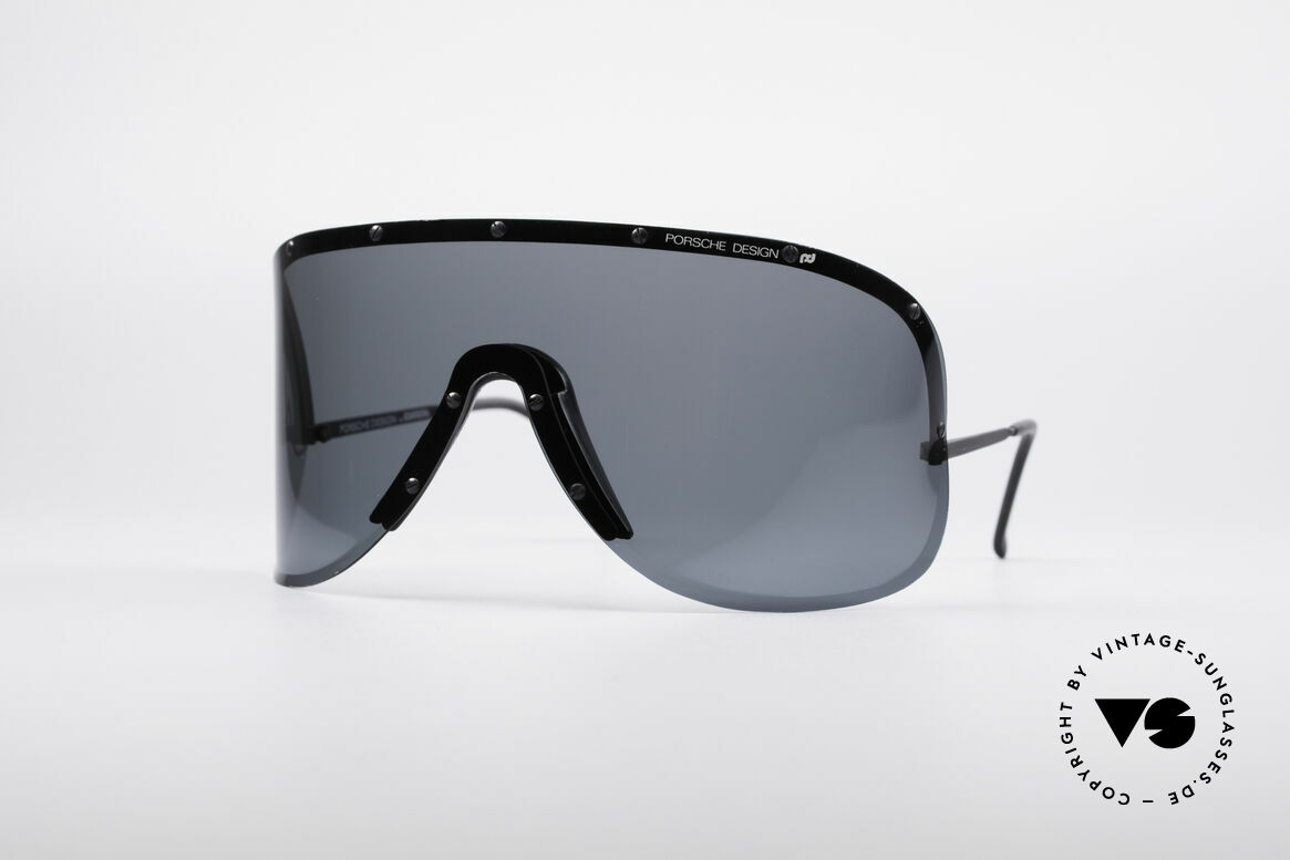 Porsche 5620 80's Yoko Ono Shades Black, mod. 5620: vintage Porsche sunglasses by Carrera Design, Made for Men and Women