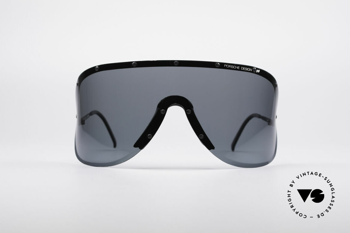 Porsche 5620 80's Yoko Ono Shades Black, huge shades, made for a flashy appearance (eye-catcher), Made for Men and Women