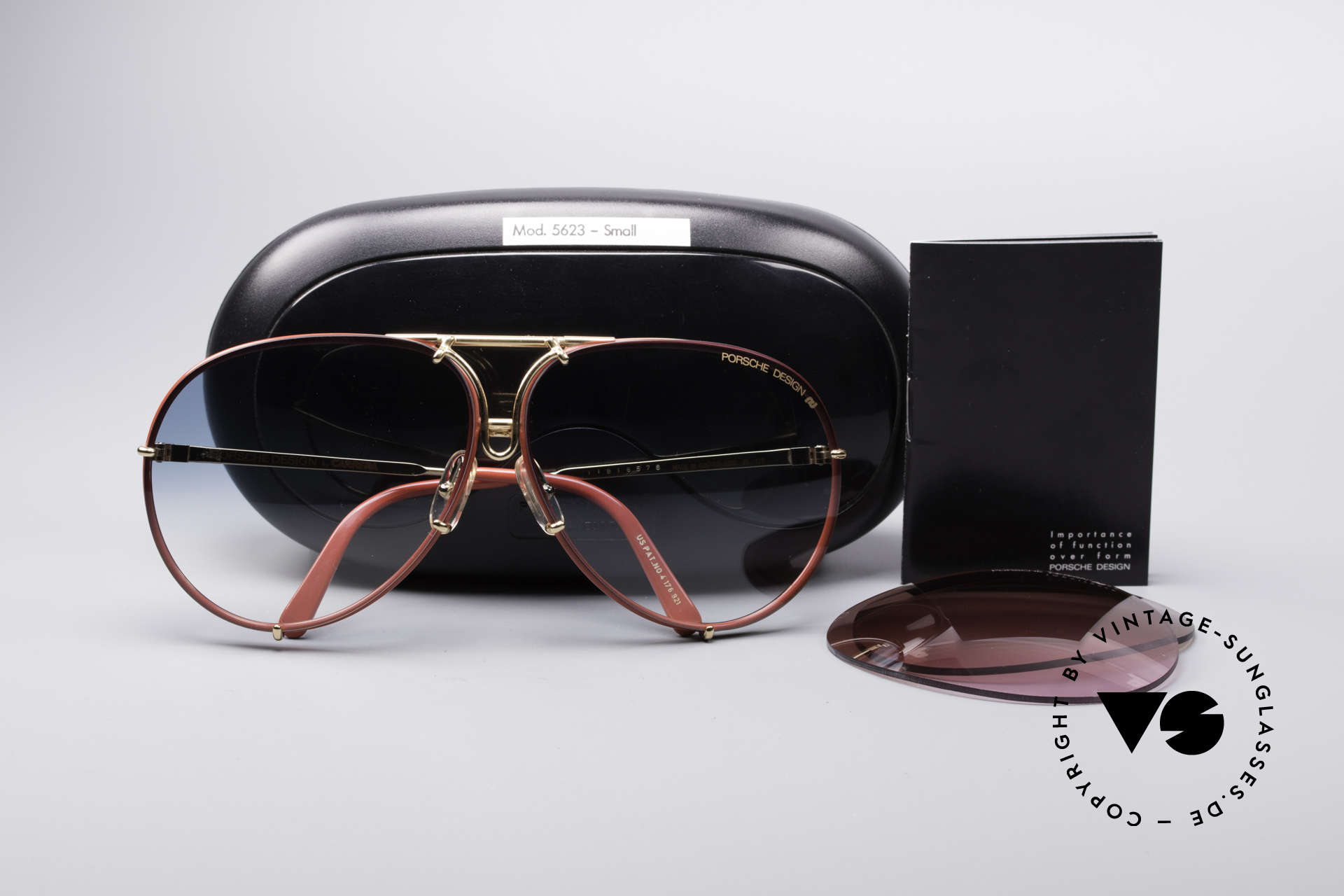 Porsche 5623 Limited Special Edition, interchangeable lenses (red-gradient & blue-gradient), Made for Women
