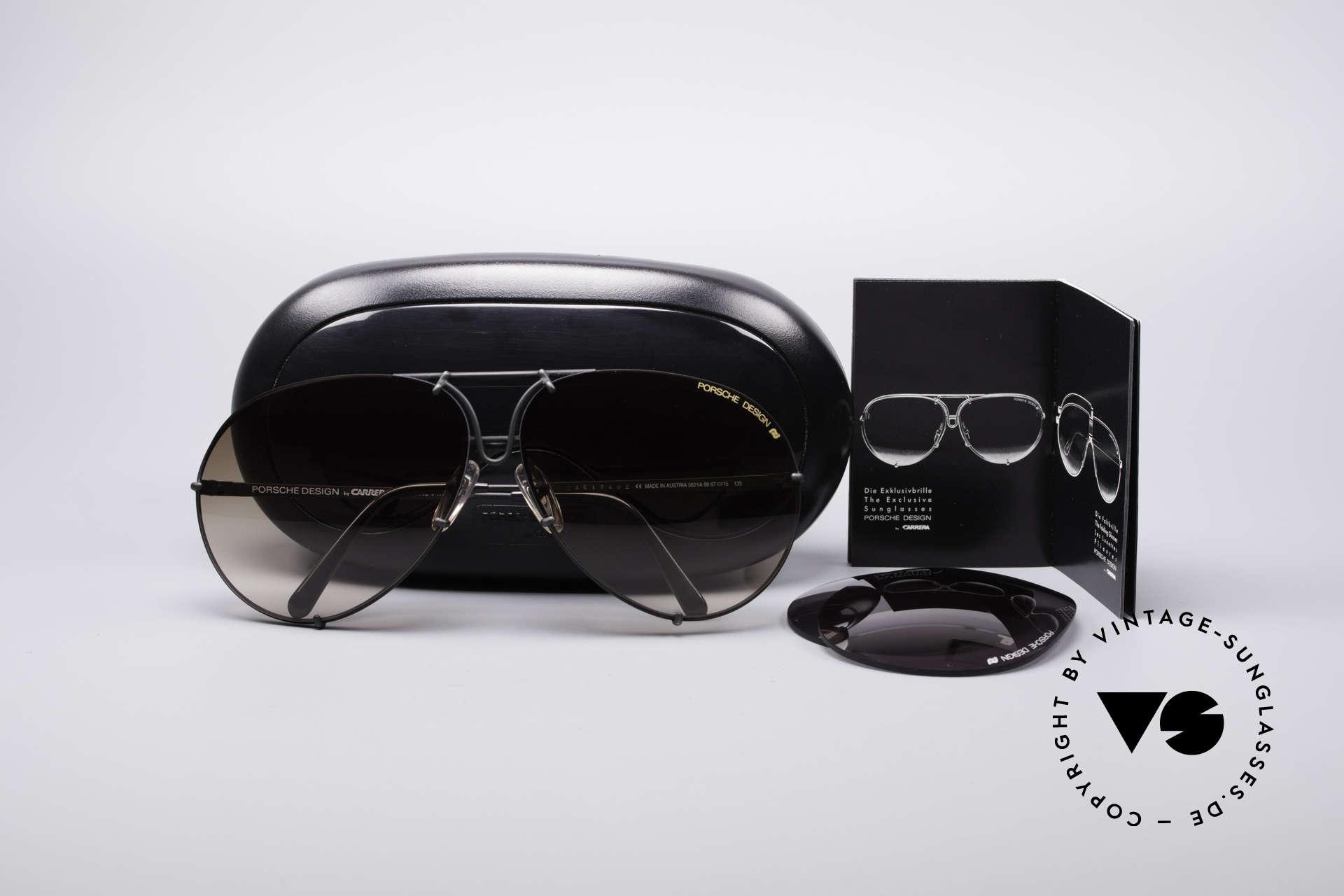 Sunglasses Porsche 5621A Rare 90 s Aviator Shades   Vintage Sunglasses 091548219322