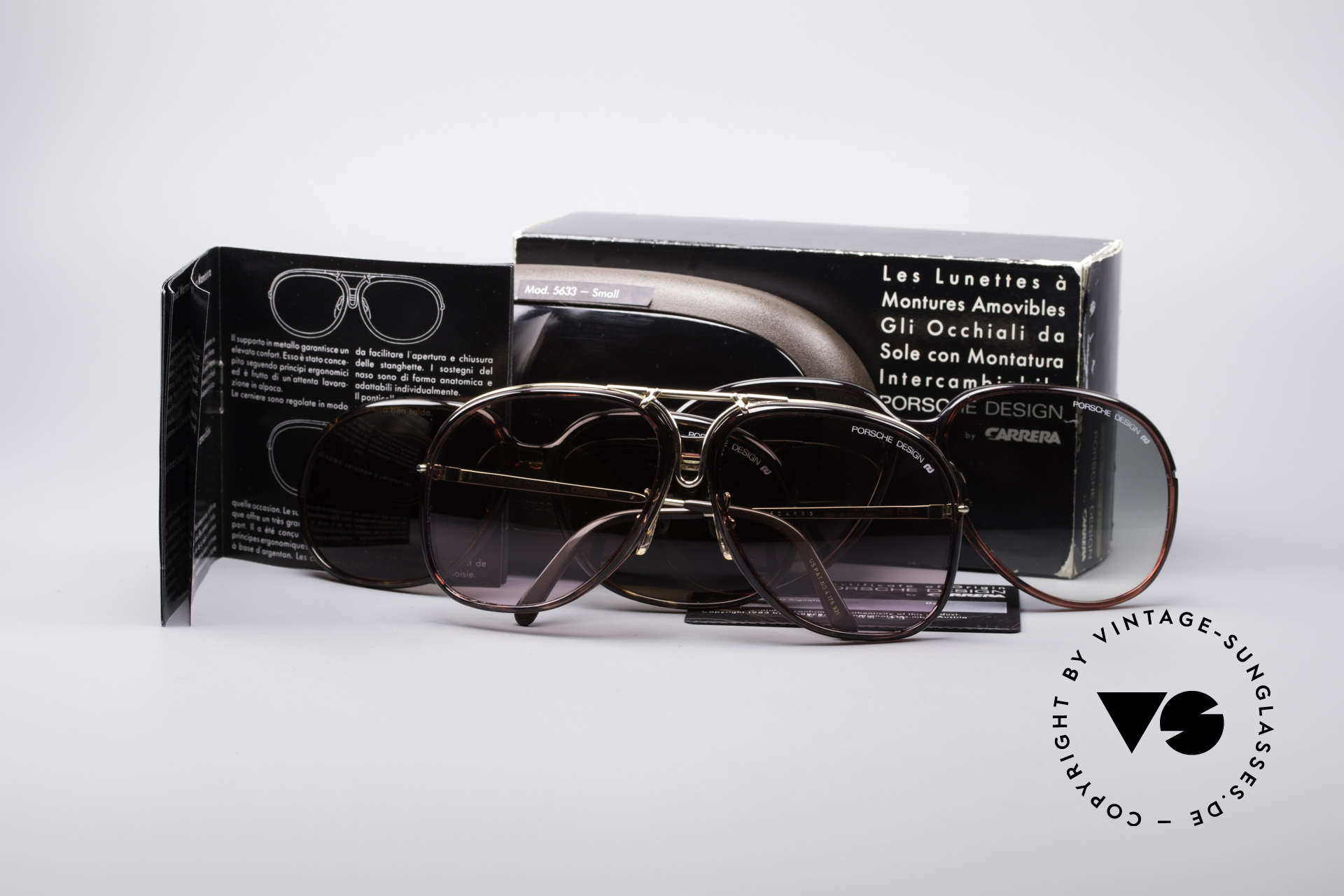 Porsche 3 in 1 Small 5631 + 5632 + 5633, NO RETRO SHADES, but an authentic 80s original, Made for Women