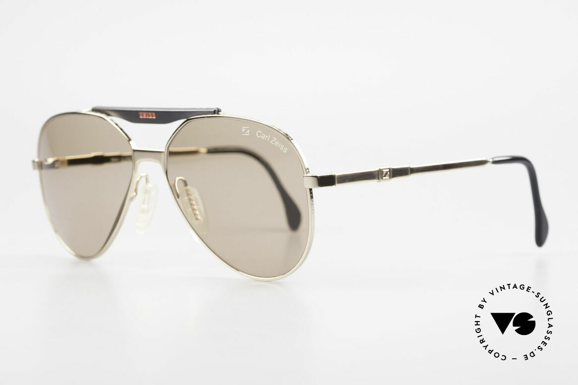 Zeiss 9931 Premium Vintage Sunglasses, CARL ZEISS mineral lenses (nonreflecting / coated), Made for Men