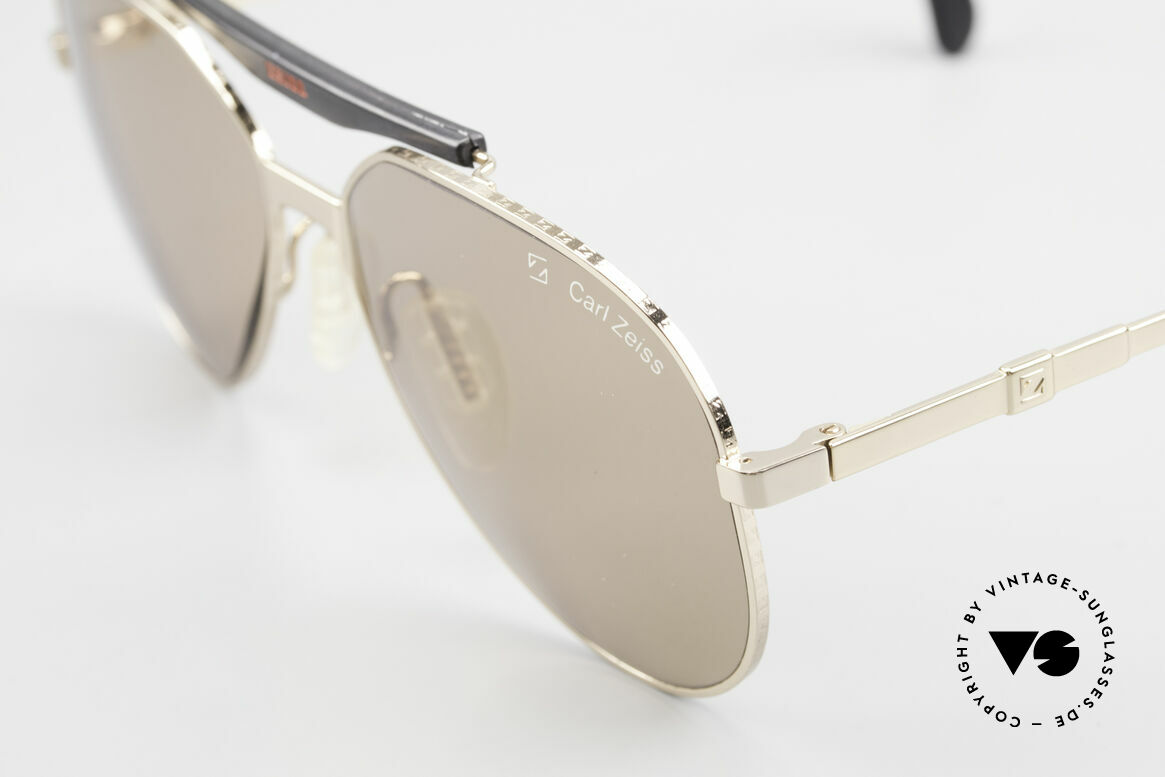 Zeiss 9931 Premium Vintage Sunglasses, stable metal frame with costly engraving; high-class, Made for Men
