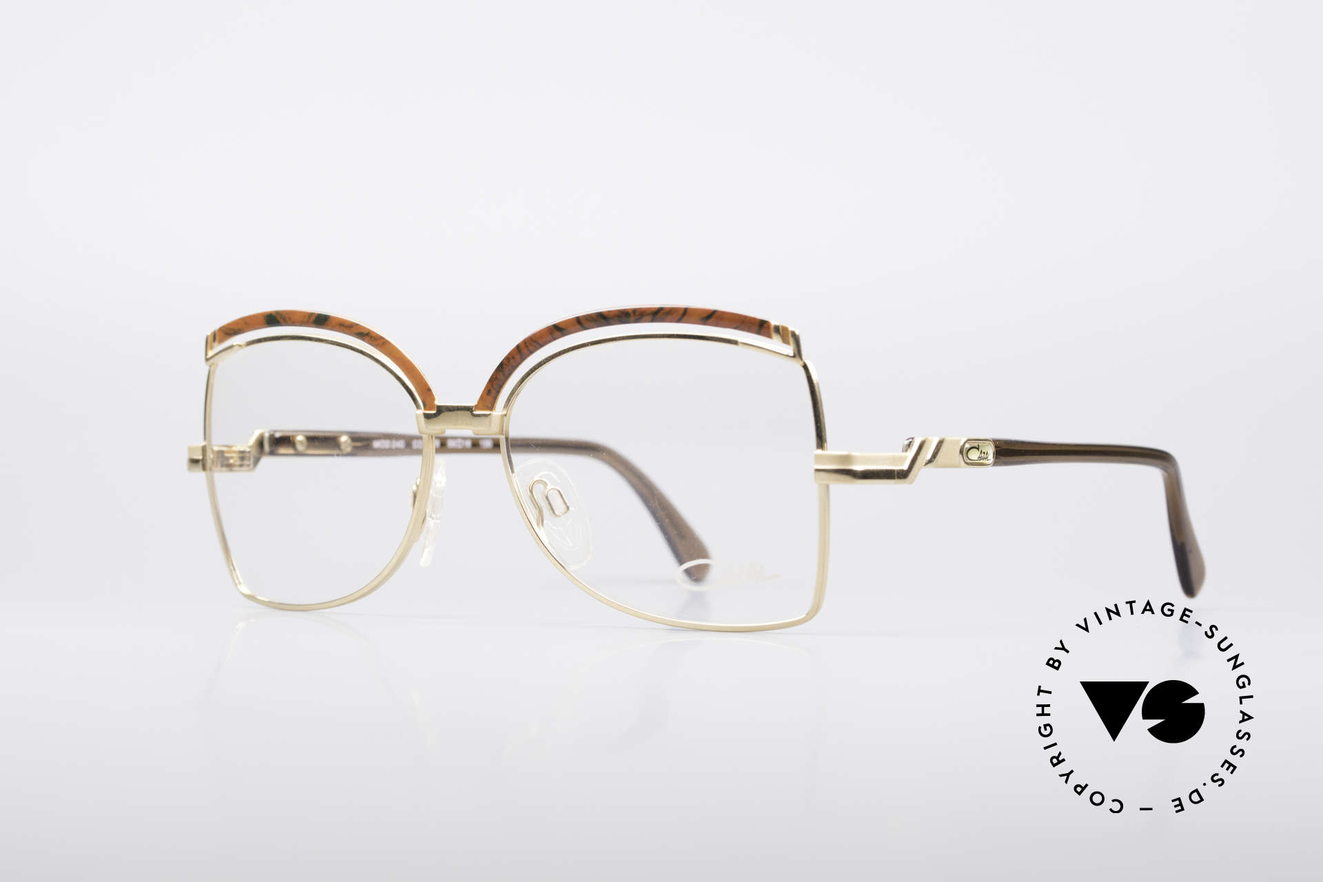 Cazal 240 90's Ladies Designer Frame, terrific combination of forms, colors & materials, Made for Women