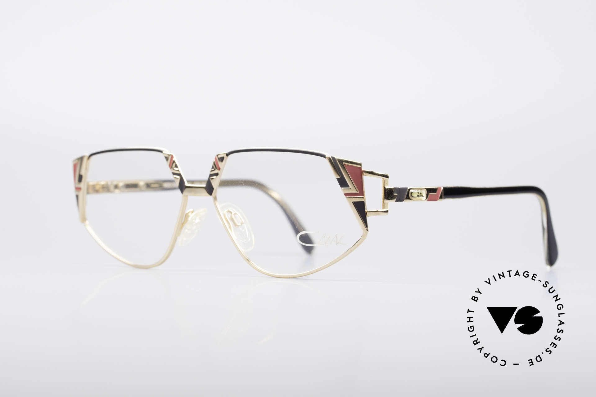 Cazal 238 Cateye Vintage Glasses, brilliant combination of forms, colors and materials, Made for Women
