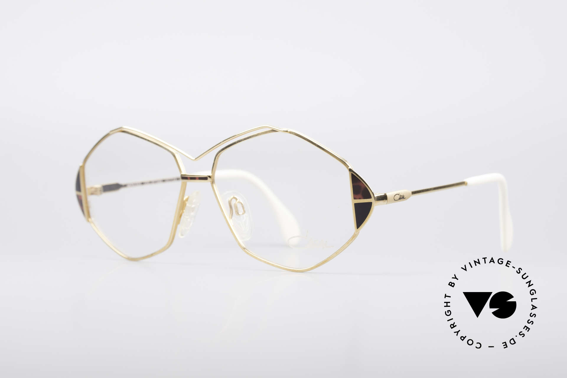 Cazal 233 True Vintage No Retro Specs, great frame design with elaborate color accents, Made for Women