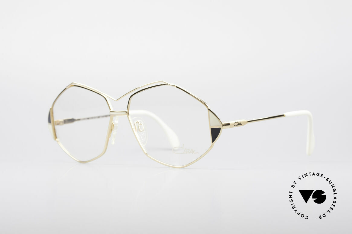 Cazal 233 Vintage West Germany Frame, great frame design with elaborate color accents, Made for Women