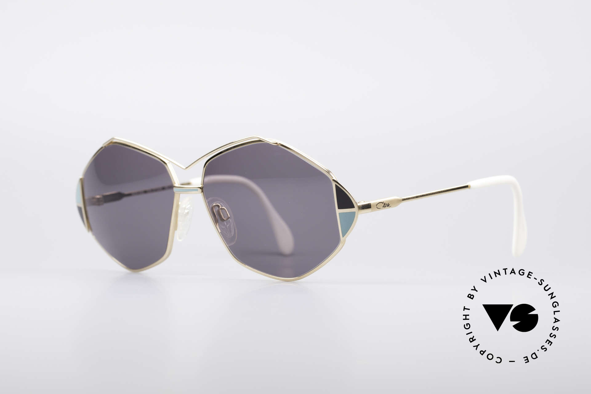 Cazal 233 Vintage West Germany Shades, great frame design with elaborate color accents, Made for Women