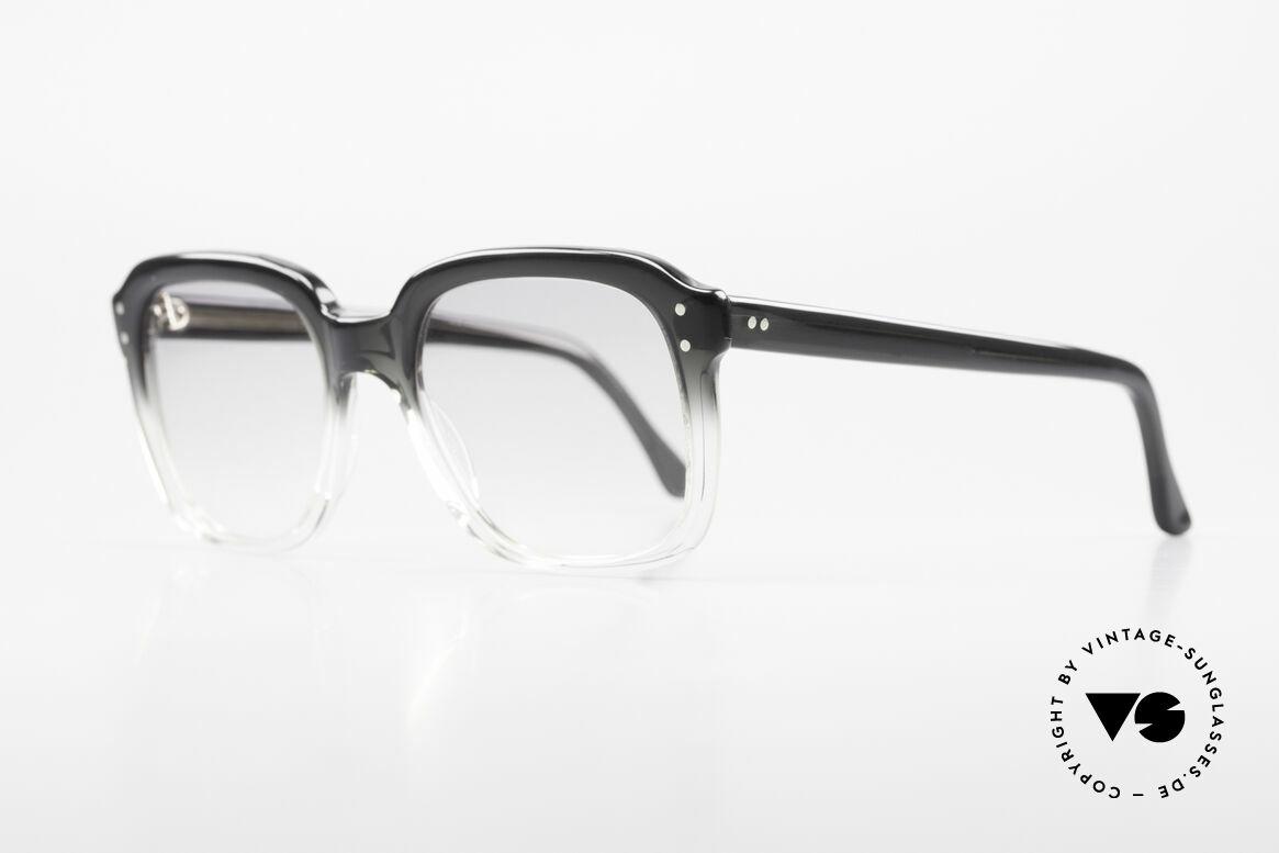 Metzler 449 1970's Original Nerd Glasses, massive frame, top craftsmanship; medium size 130mm, Made for Men
