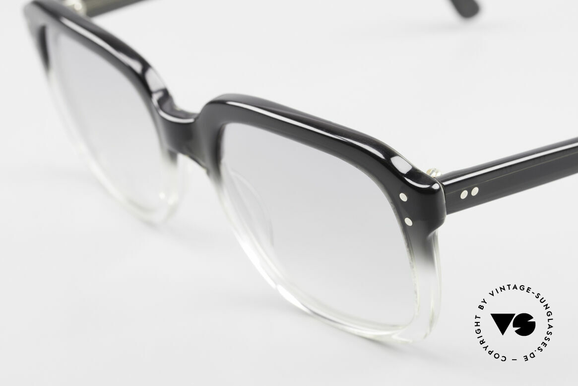 Metzler 449 1970's Original Nerd Glasses, 'black to crystal' coloring (characteristical for the 70's), Made for Men
