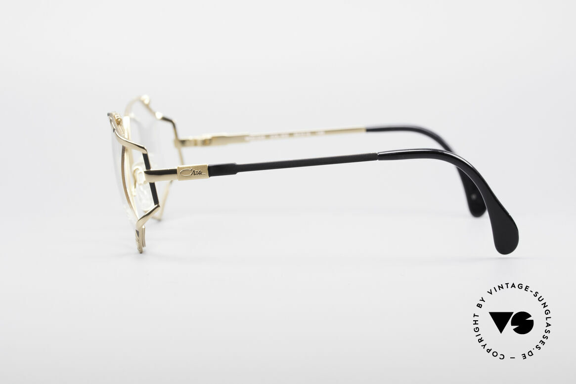 Cazal 245 90's Designer Ladies Specs, marvelous play of colors (black/gold) & pattern, Made for Women