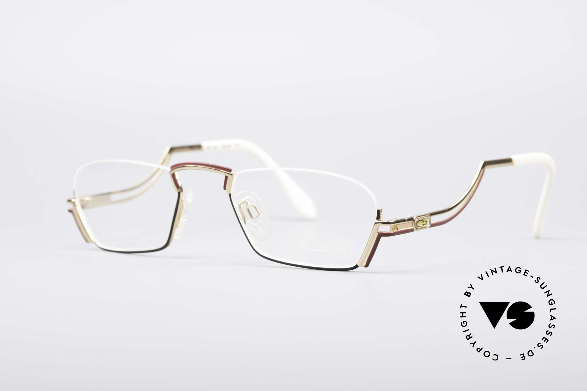 Cazal 232 Vintage Reading Eyeglasses, unique coloring and shape (just fancy & true vintage), Made for Men and Women