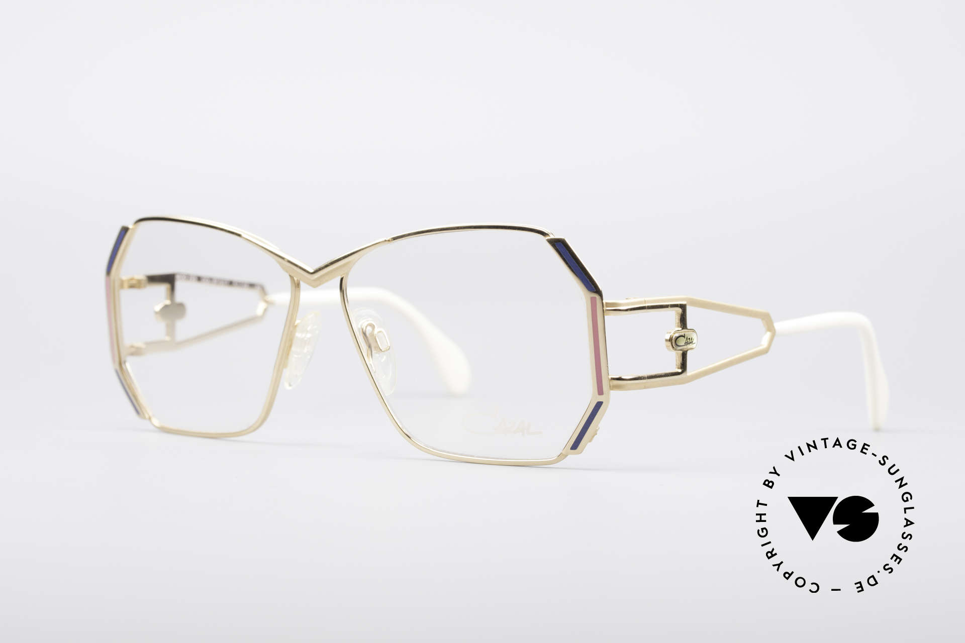 Cazal 225 80's Old School HipHop Frame, great frame design by Cari Zalloni with fancy temples, Made for Women