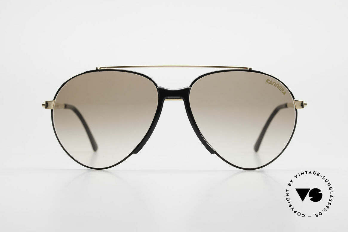 Boeing 5734 Old Glasses 80s Aviator Shades, 'The Boeing Collection by Carrera' in small size 56/15, Made for Men and Women