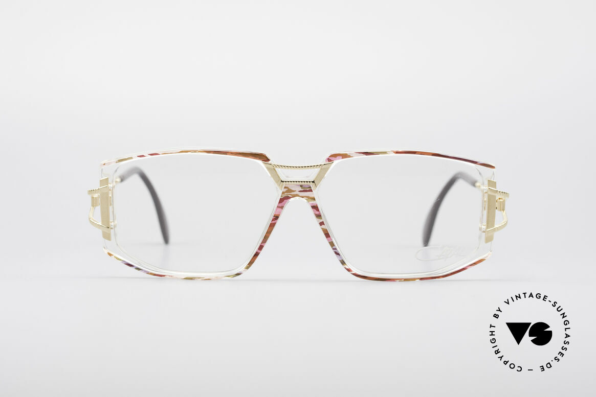 Cazal 362 No Retro 90's Vintage Frame, exciting ornamental piece on bridge and temple hinges, Made for Women
