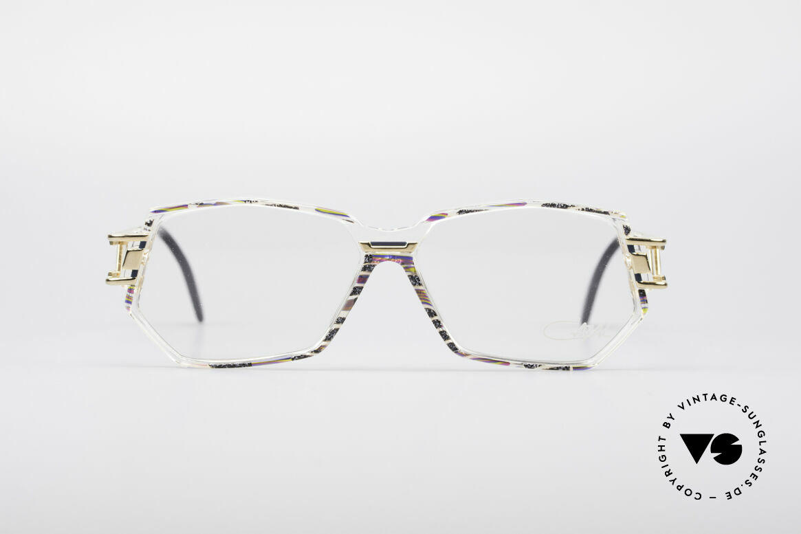 Cazal 359 90's Hip Hop Eyeglasses, striking frame construction & remarkable color concept, Made for Women