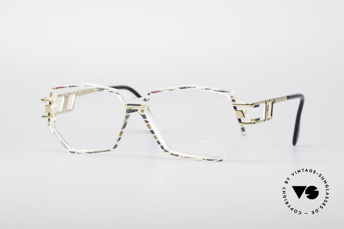 Cazal 359 90's Hip Hop Eyeglasses, vintage Cazal designer eyeglass-frame in L size 58/13, Made for Women