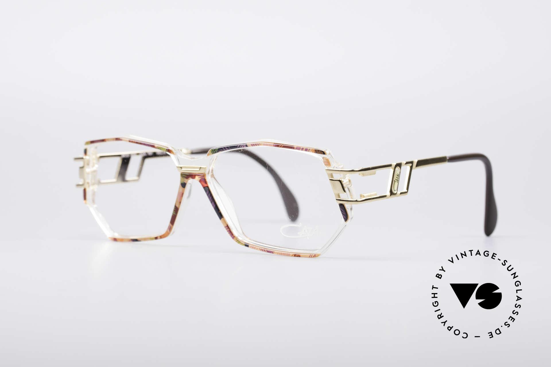 Cazal 359 90's Hip Hop Eyeglasses, color description: blue-red multicolor / crystal / gold, Made for Women