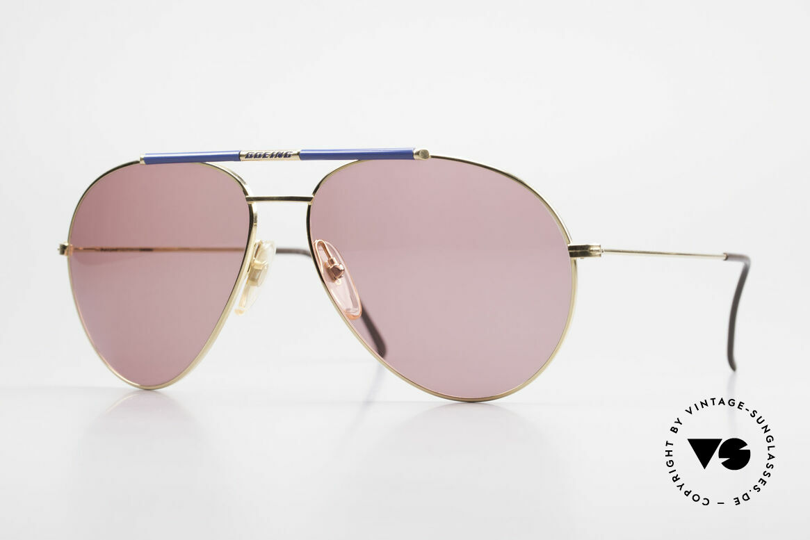 Boeing 5706 Rare 80s Pilot's Sunglasses XL, the legendary 'The BOEING Collection by Carrera', Made for Men
