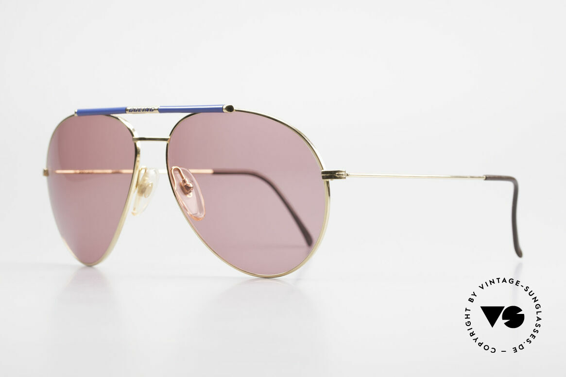 Boeing 5706 Rare 80s Pilot's Sunglasses XL, conspicuous bar with the prestigious Boeing label, Made for Men