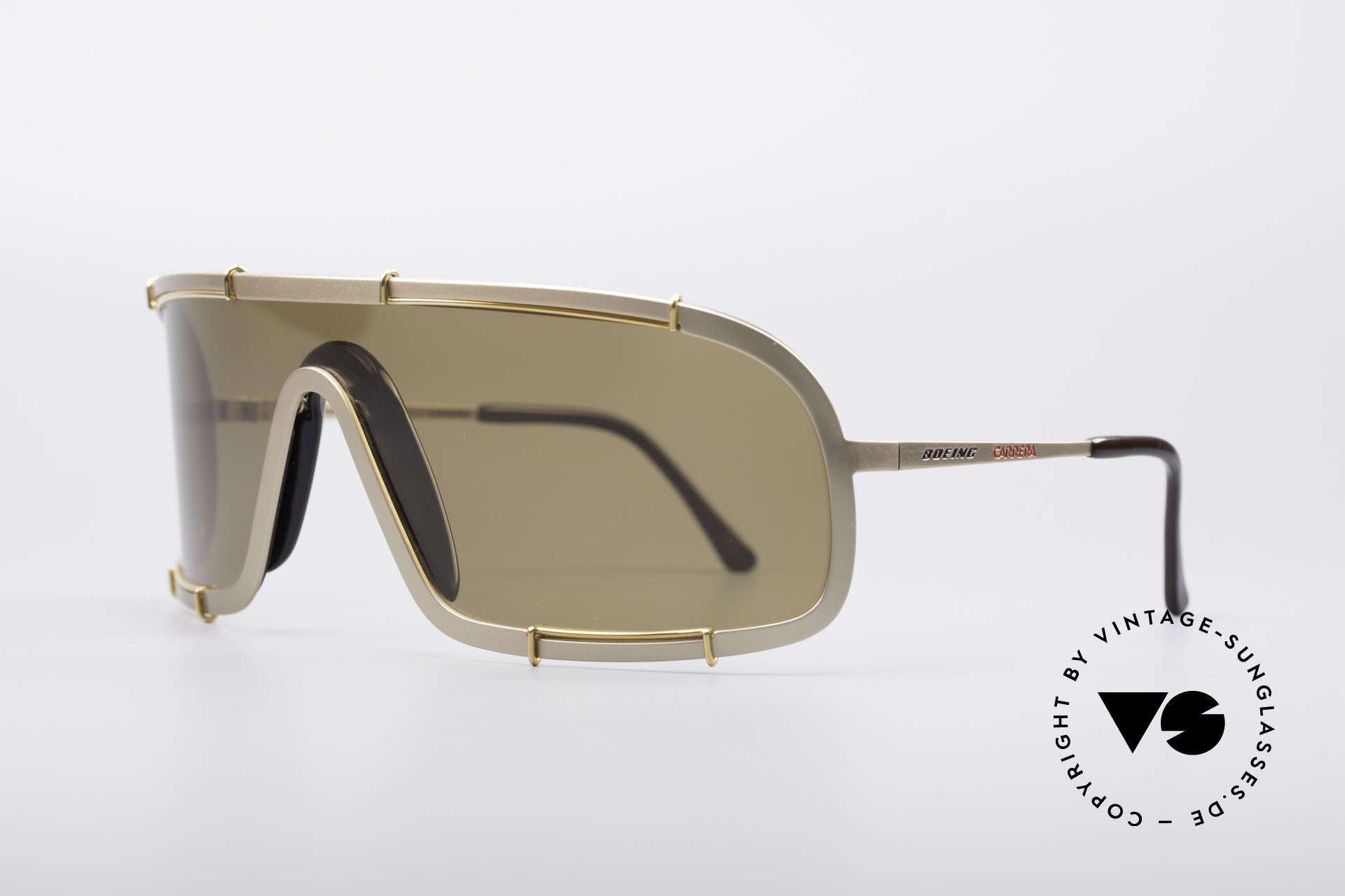 Boeing 5708 80's Luxury Pilots Shades, adjustable nose pads & gold-plated frame; true vintage, Made for Men