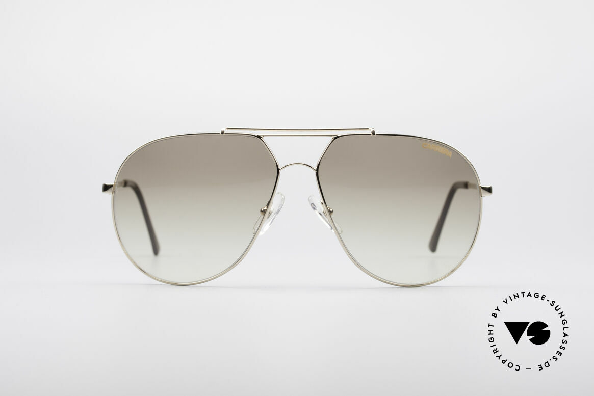 Carrera 5421 90's Aviator Sunglasses, golden frame, double bridge & brown-gradient lenses, Made for Men