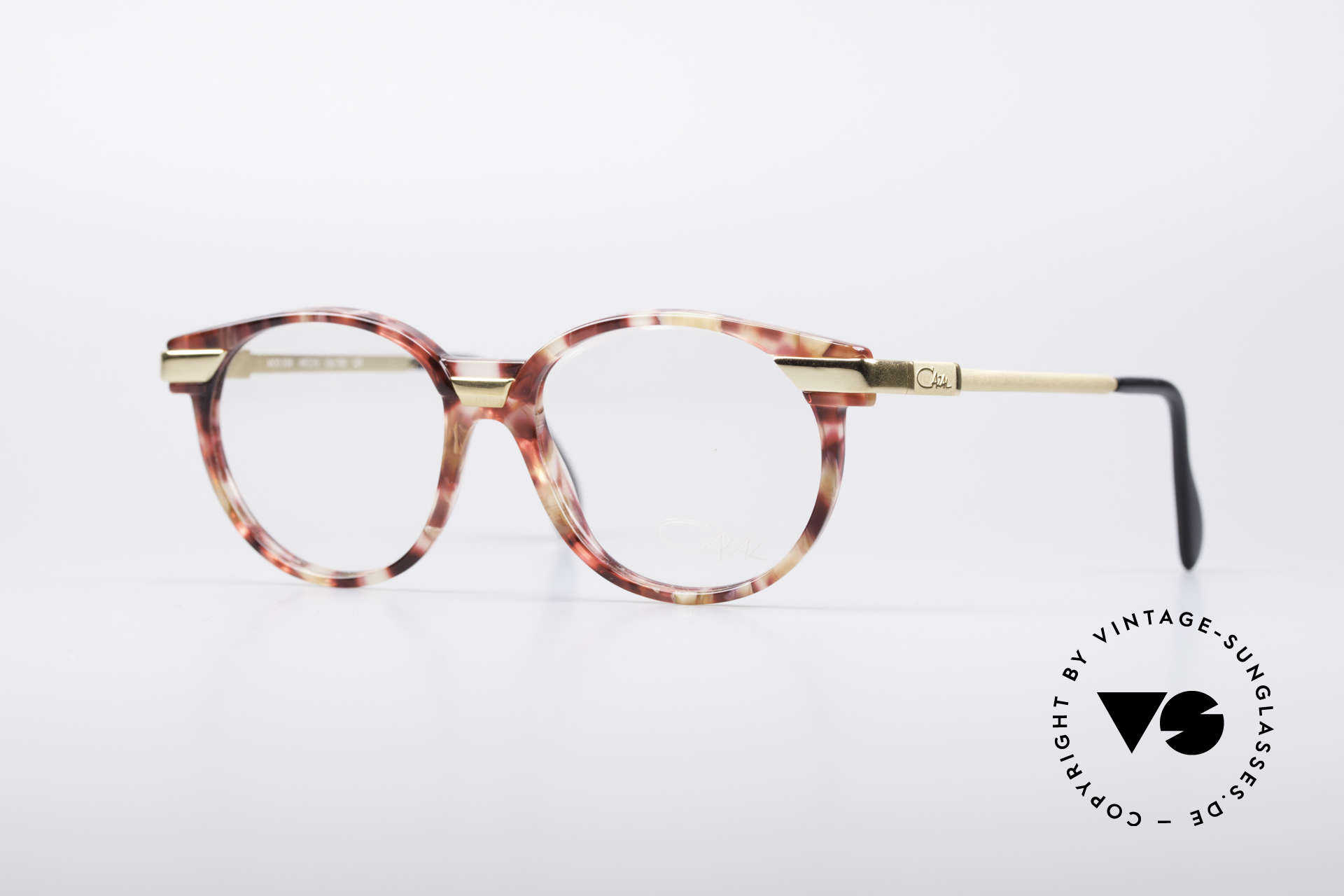 Cazal 338 Small Round Vintage Frame, small round Cazal vintage glasses from the early 90's, Made for Men and Women