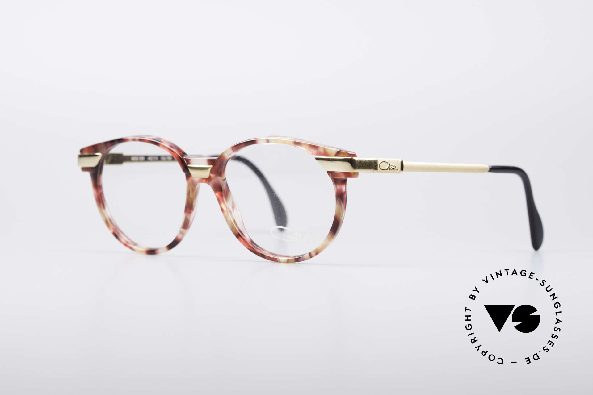 Cazal 338 Small Round Vintage Frame, creative & discreet frame-coloring; at the same time, Made for Men and Women