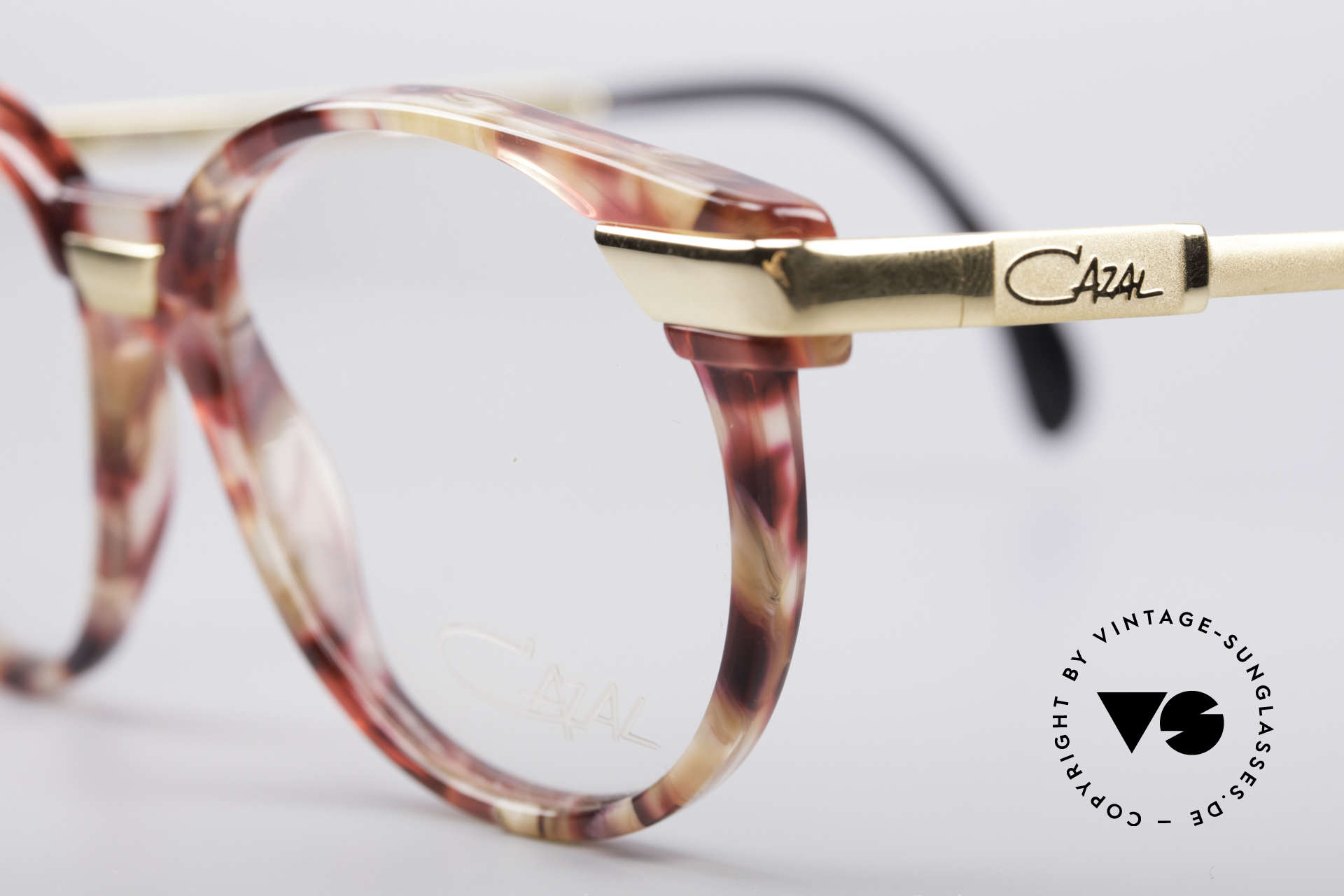 Cazal 338 Small Round Vintage Frame, new old stock (like all our rare old CAZAL EYEWEAR), Made for Men and Women