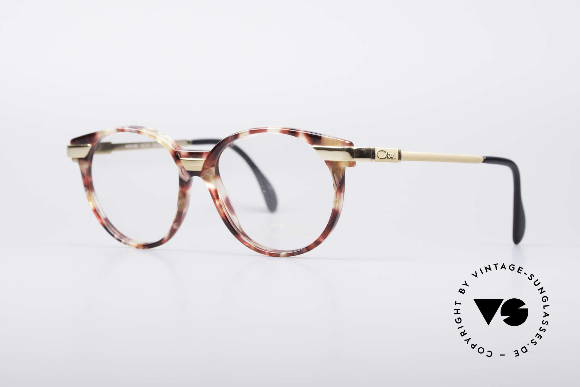 Cazal 338 Round 90's Vintage Frame, creative & discreet frame-coloring; at the same time, Made for Men and Women
