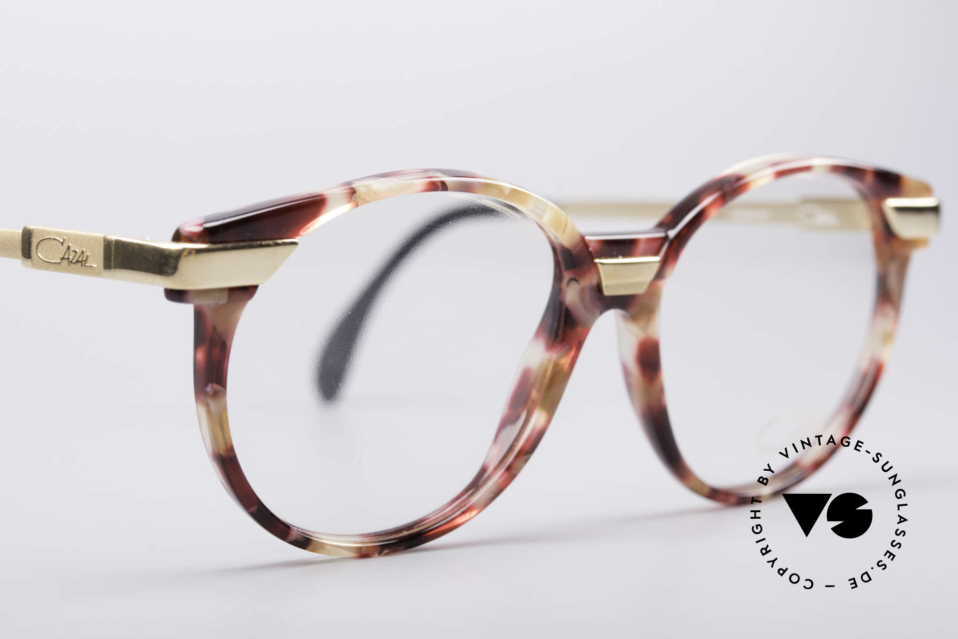 Cazal 338 Round 90's Vintage Frame, NO retro eyeglasses, but an app. 25 years old original, Made for Men and Women