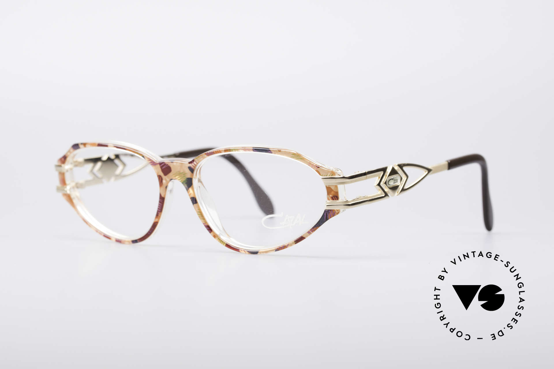 Cazal 356 90's Vintage Designer Frame, CAZAL called this pattern simple: blue-red / crystal, Made for Women