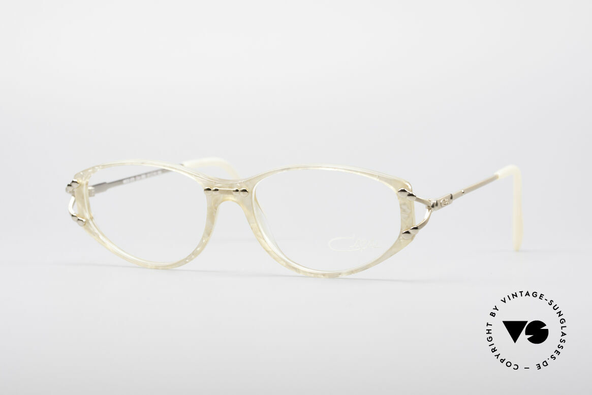 Cazal 375 Vintage Pearl Glasses, feminine Cazal designer eyeglasses of the mid 90's, Made for Women