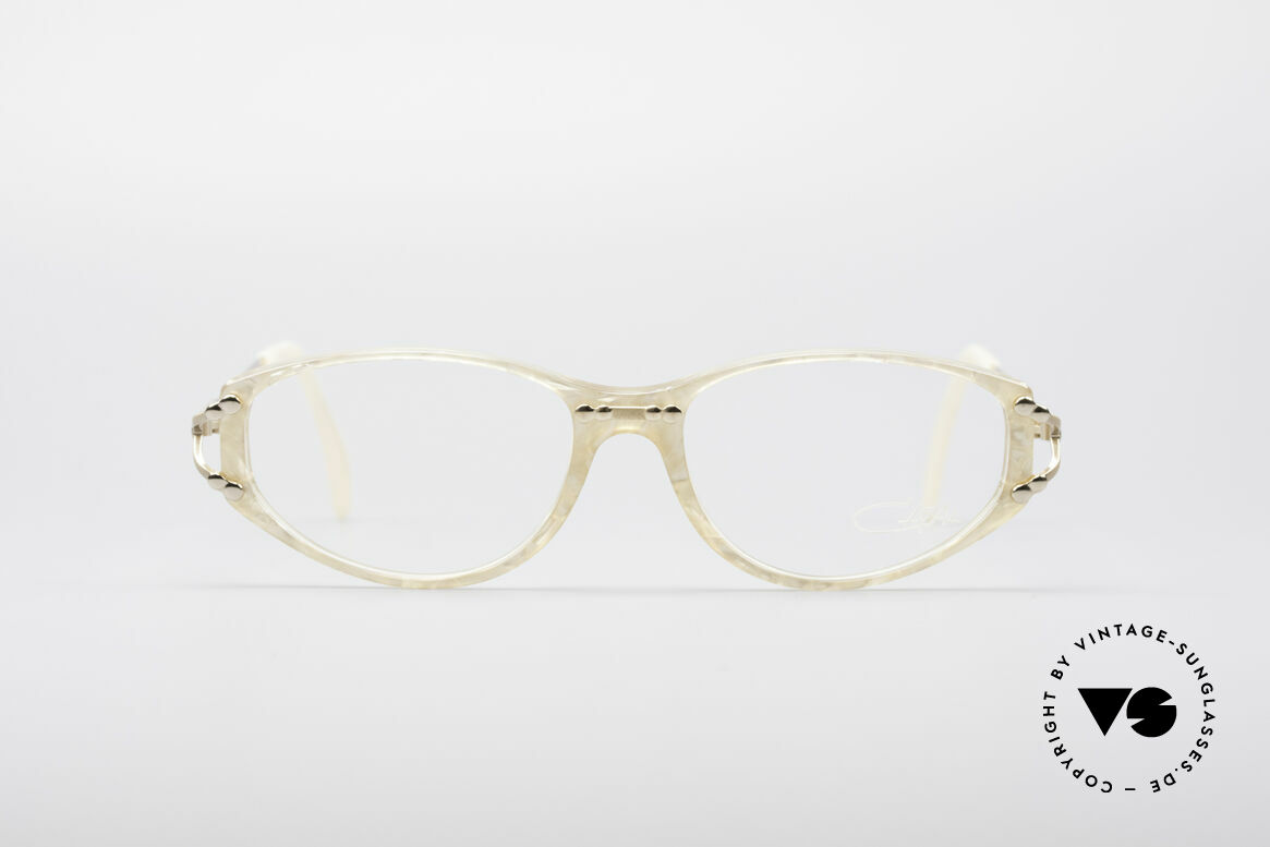 Cazal 375 Vintage Pearl Glasses, glamorous vintage eyeglass-frame with pearl optic, Made for Women