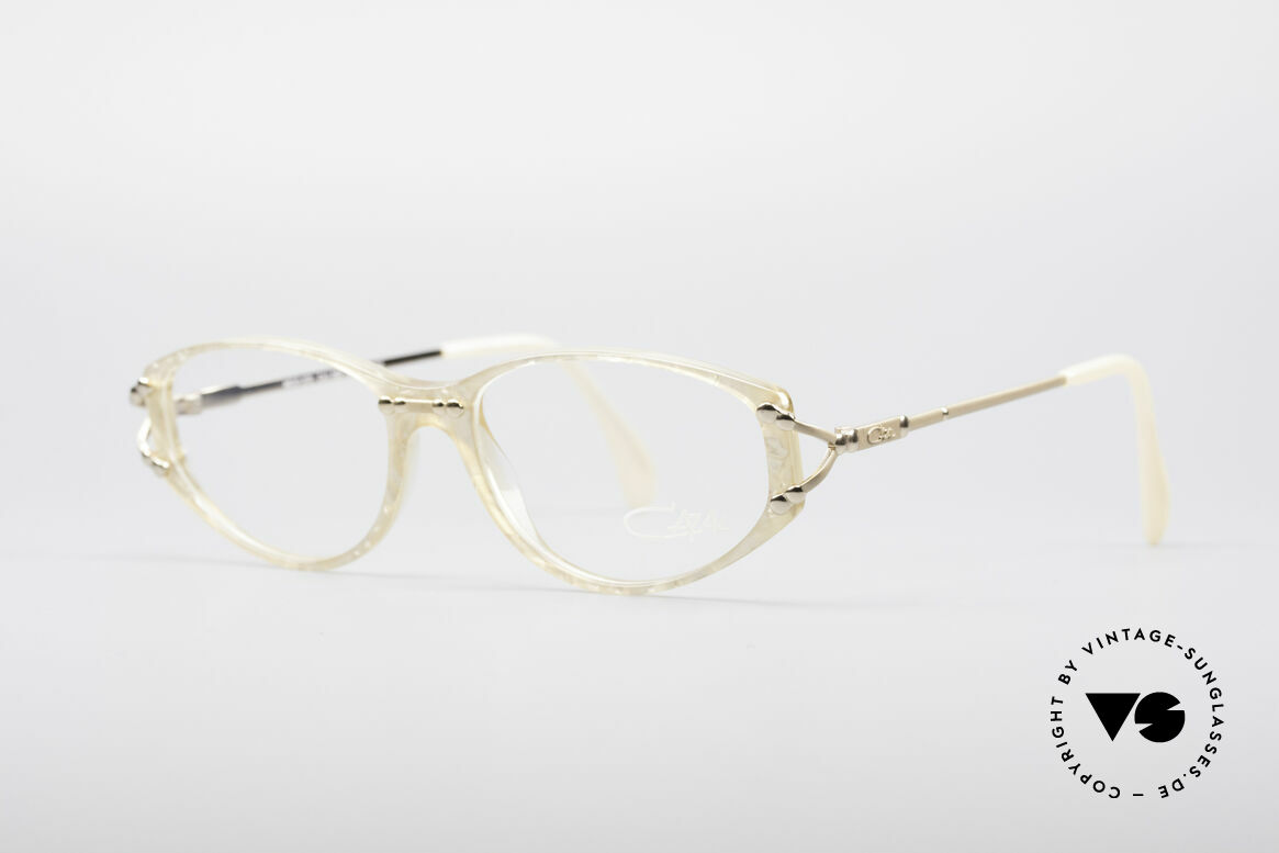 Cazal 375 Vintage Pearl Glasses, sober elegance and discreet luxurious; ladies'style, Made for Women