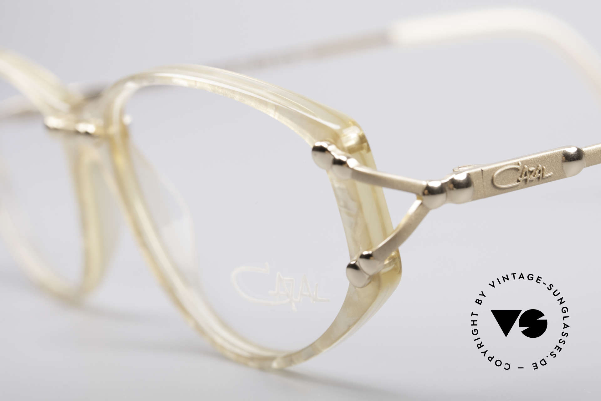 Cazal 375 Vintage Pearl Glasses, never used (like all our rare vintage Cazal eyewear), Made for Women