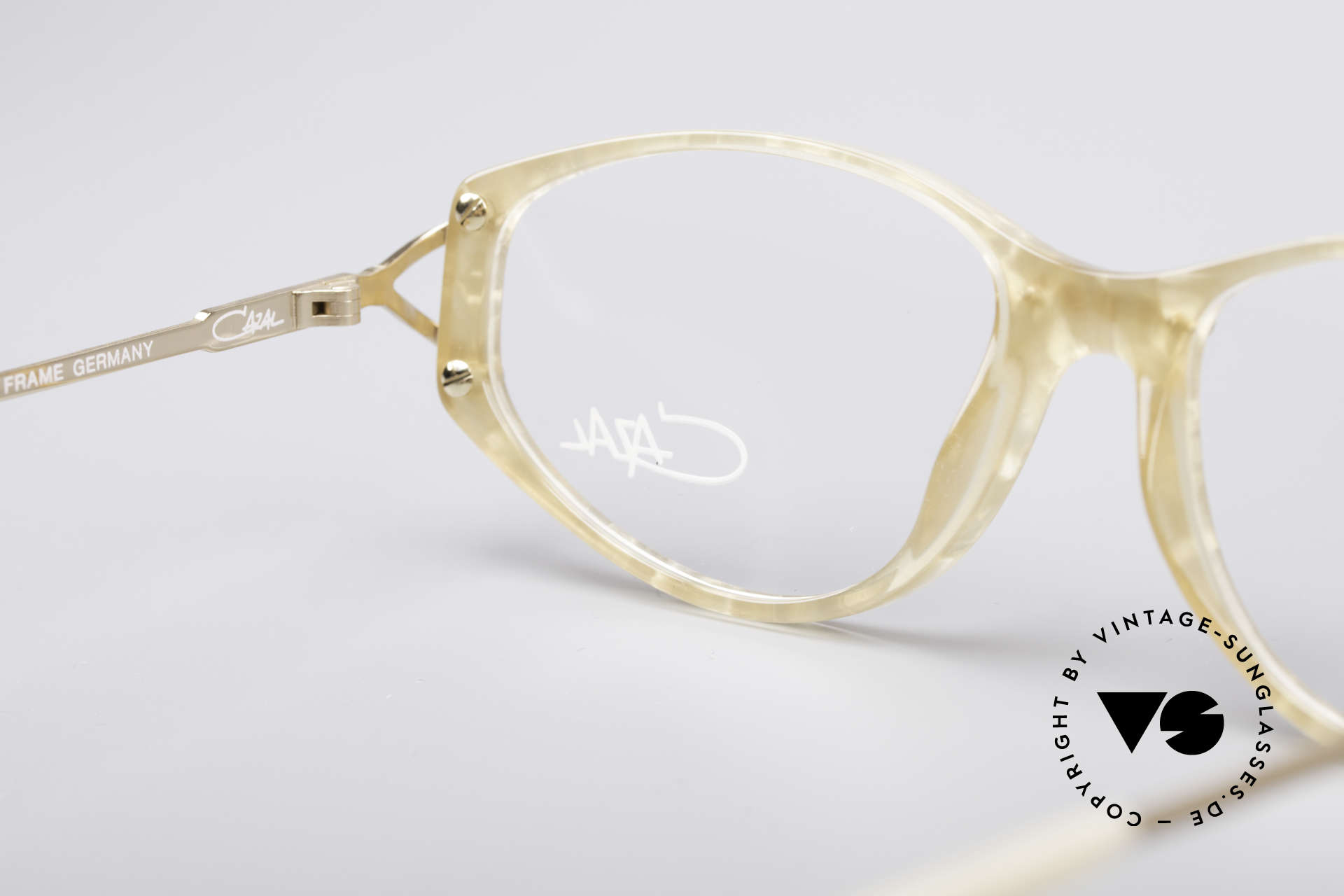 Cazal 375 Vintage Pearl Glasses, frame (SMALL size 51/15) can be glazed optionally, Made for Women