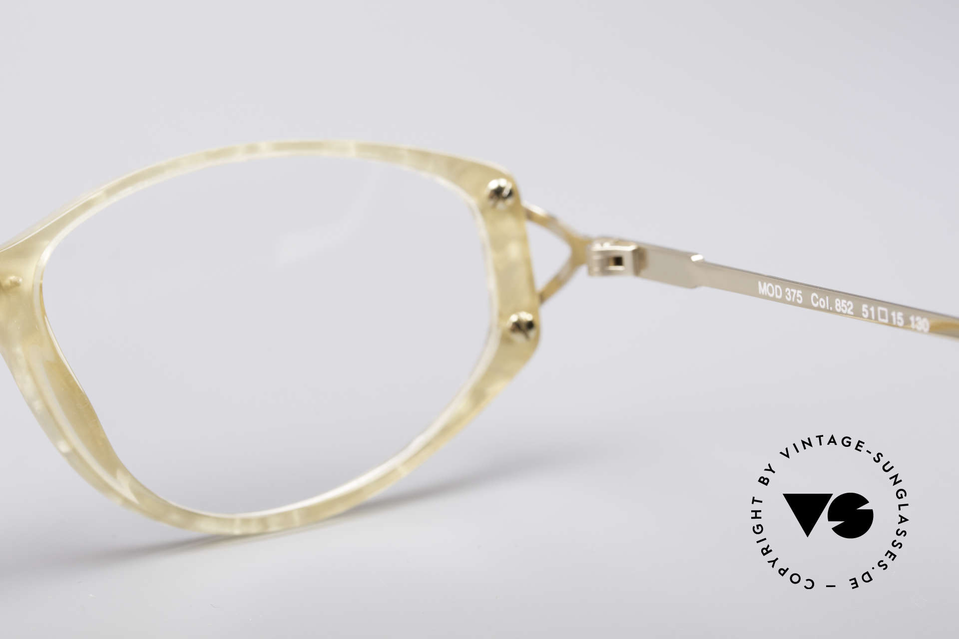 Cazal 375 Vintage Pearl Glasses, Size: small, Made for Women