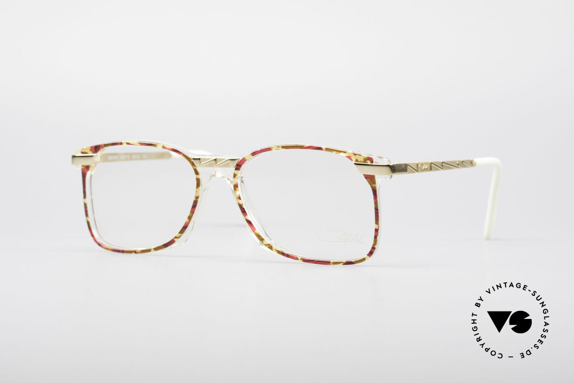 Cazal 341 Vintage No Retro Glasses 90s, creative eyewear design by Cazal (from around 1990), Made for Women