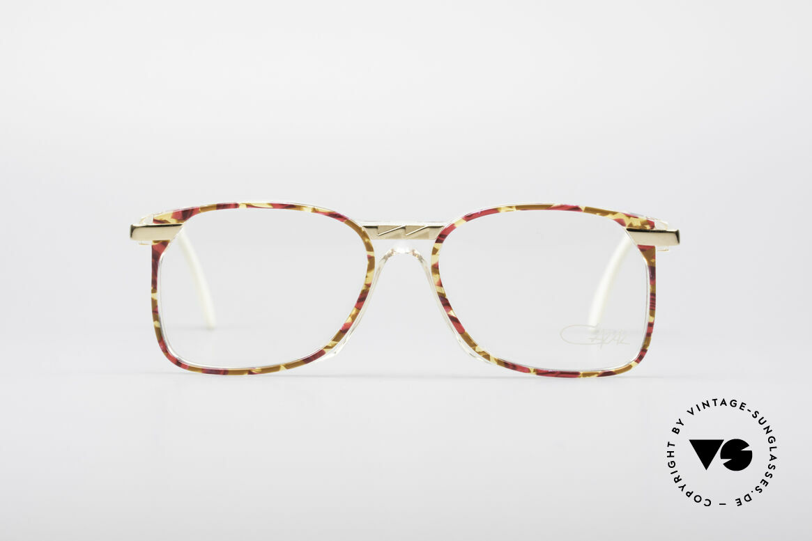 Cazal 341 Vintage No Retro Glasses 90s, great combination of transparency, color and metal, Made for Women