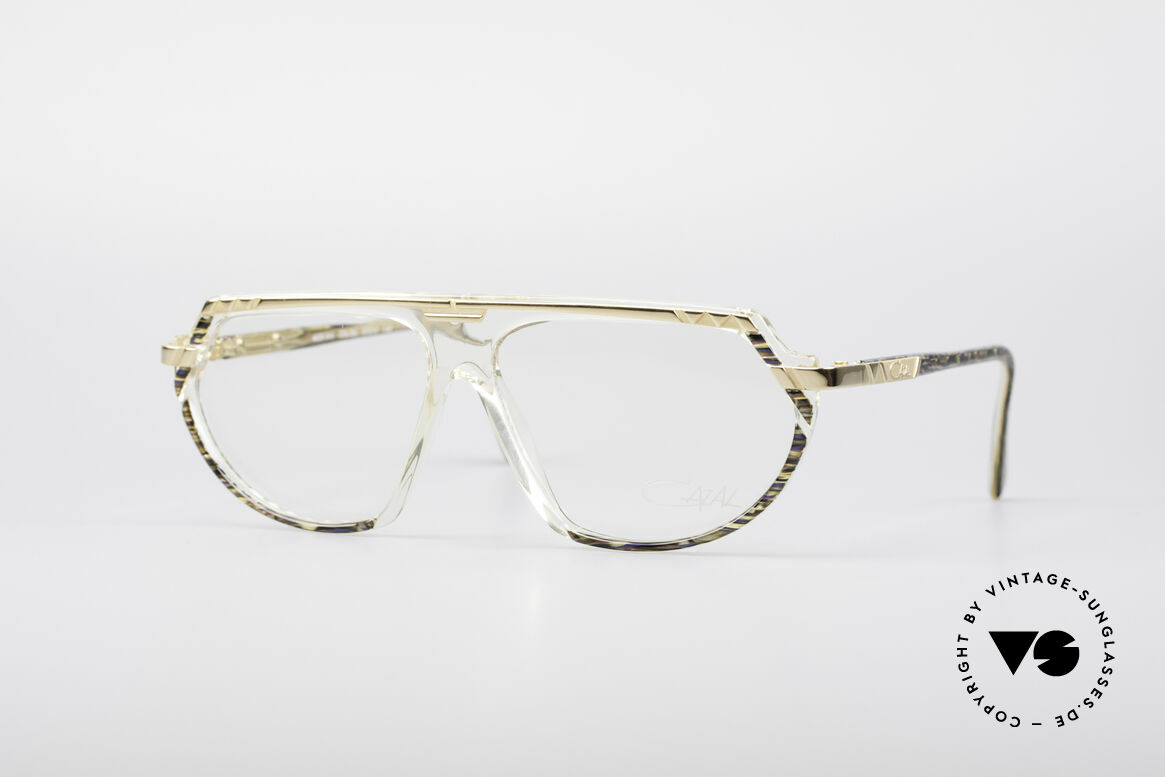 Cazal 344 Old School Crystal Glasses, crystal clear frame (distinctive for the 300's series), Made for Women