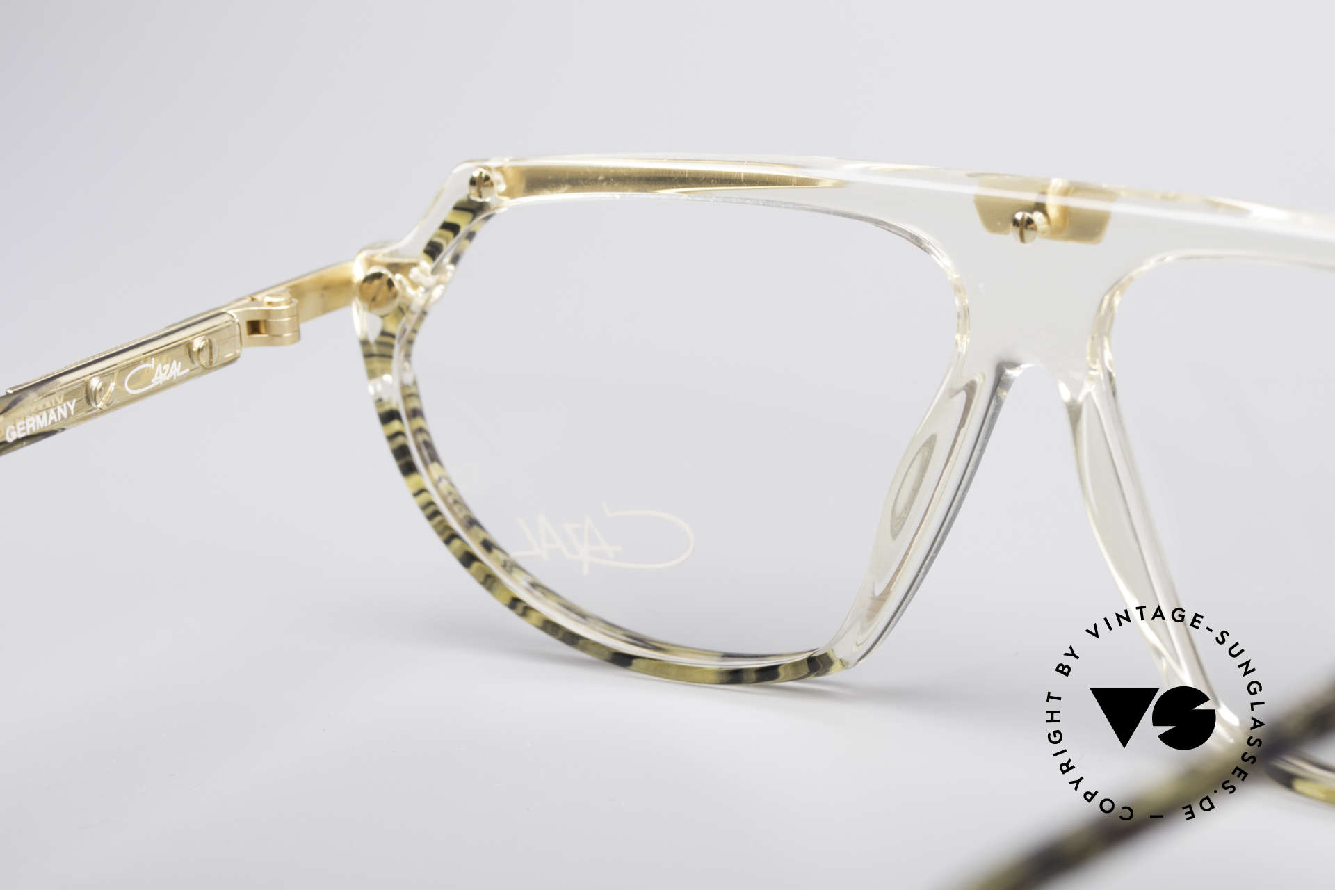Cazal 344 Old School Crystal Glasses, frame (SMALL size 57/12) can be glazed optionally, Made for Women