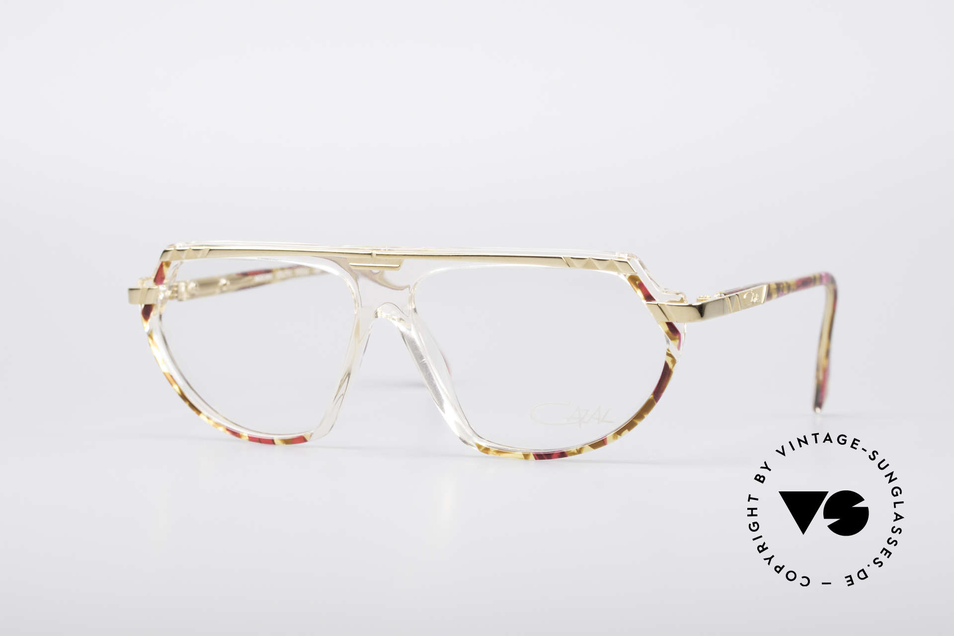 Cazal 344 Old School Crystal Glasses, vintage CAZAL designer eyeglasses from 1989/1990, Made for Women