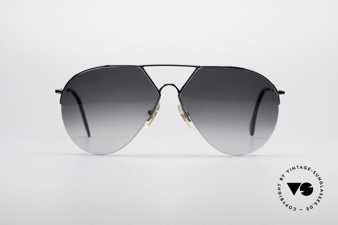 Alpina TR3 Style 80's Aviator Sunglasses, semi rimless frame by Alpina (similar to mod. TR3), Made for Men