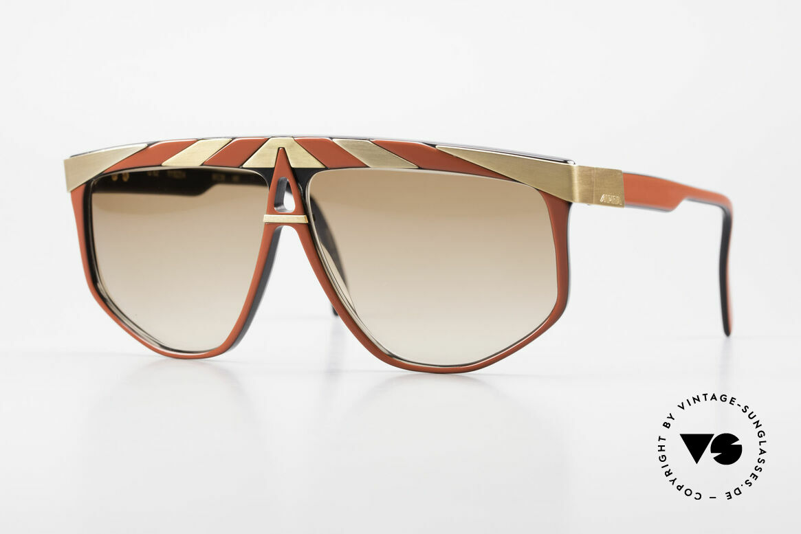 Alpina G82 Vintage Shades 80's Gold Plated, conspicuous frame design with ornamenting details, Made for Men and Women