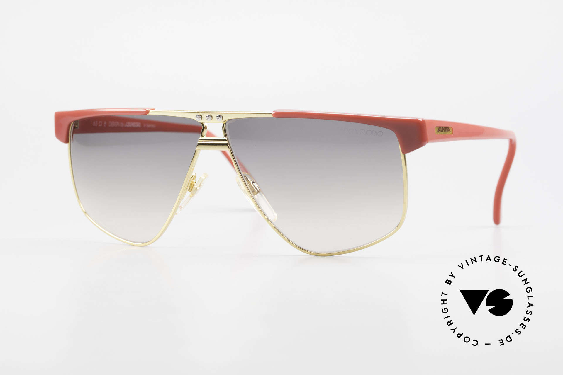 Alpina Targa Florio 33 Rallye Sunglasses Vintage 80's, expressive Alpina sports sunglasses from app. 1987, Made for Men and Women