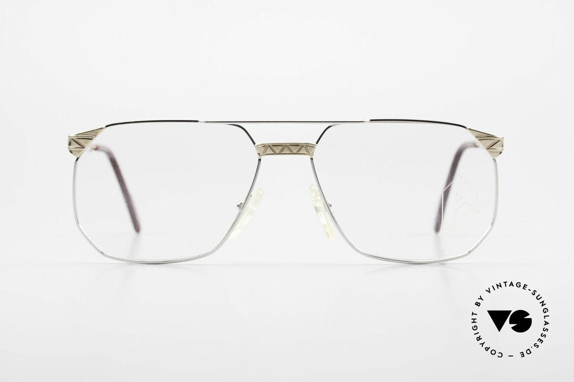 Alpina FM34 80's Designer Frame No Retro, bicolor (gold-silver) frame & interesting pattern, Made for Men