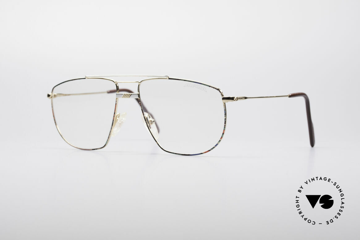 Alpina FM69 90's Vintage Metal Frame, large metal eyeglass-frame by Alpina from the 90's, Made for Men