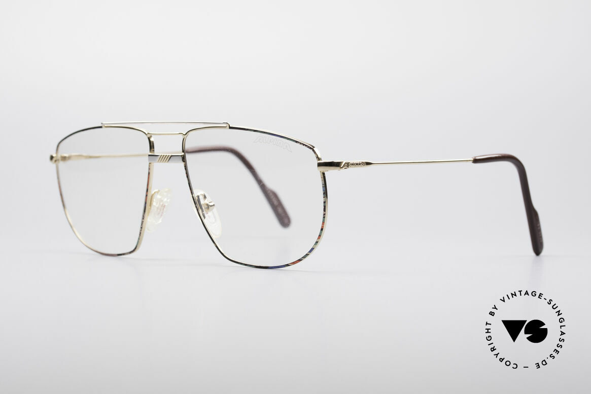 Alpina FM69 90's Vintage Metal Frame, discreet colorful frame finish (turquoise-blue-red), Made for Men