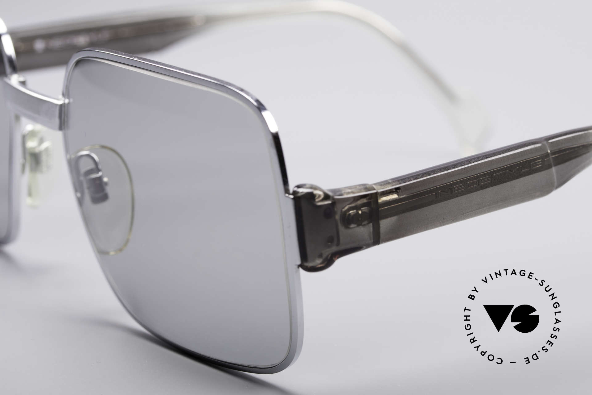 Neostyle Office 40 Old School Sunglasses, light gray tinted sun lenses (100% UV protection), Made for Men